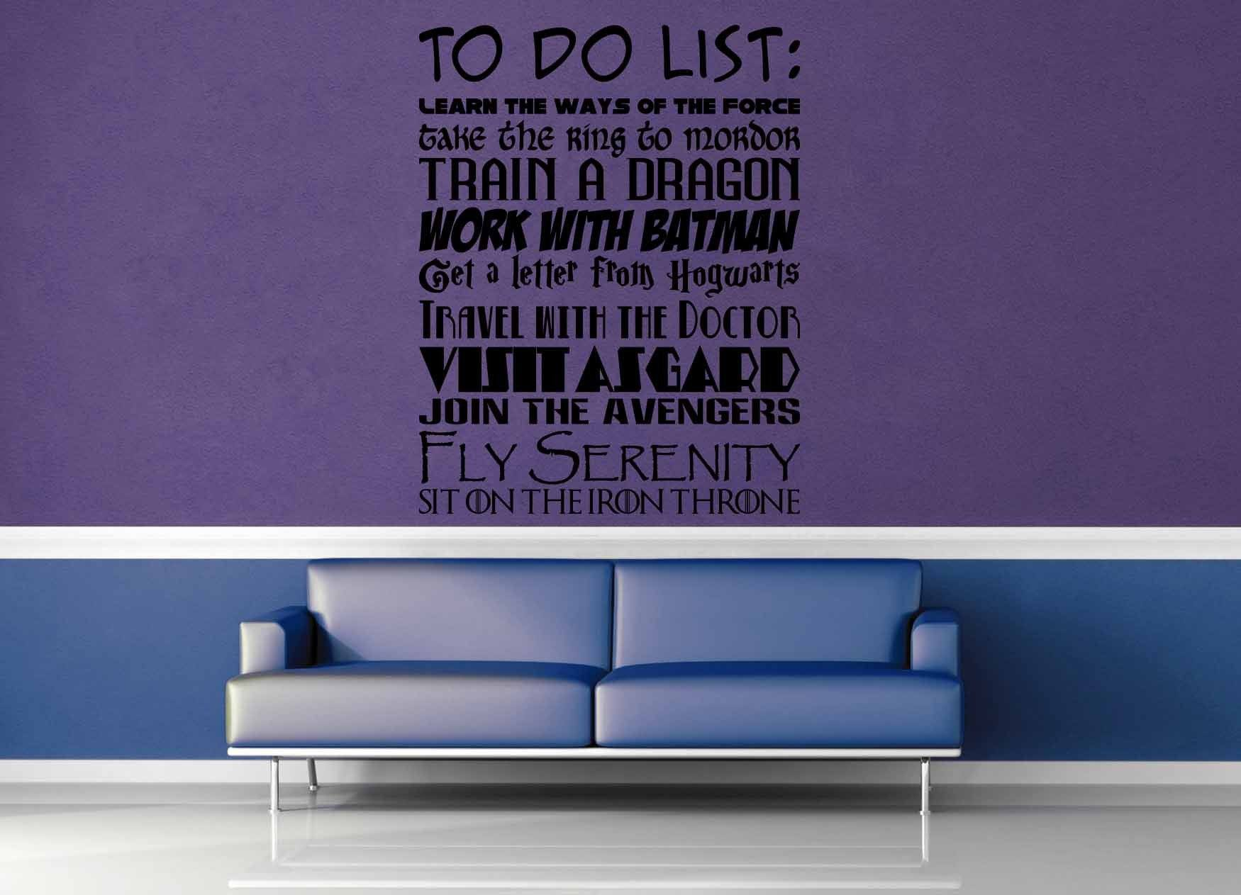 Fandom To Do List - Wall Decal