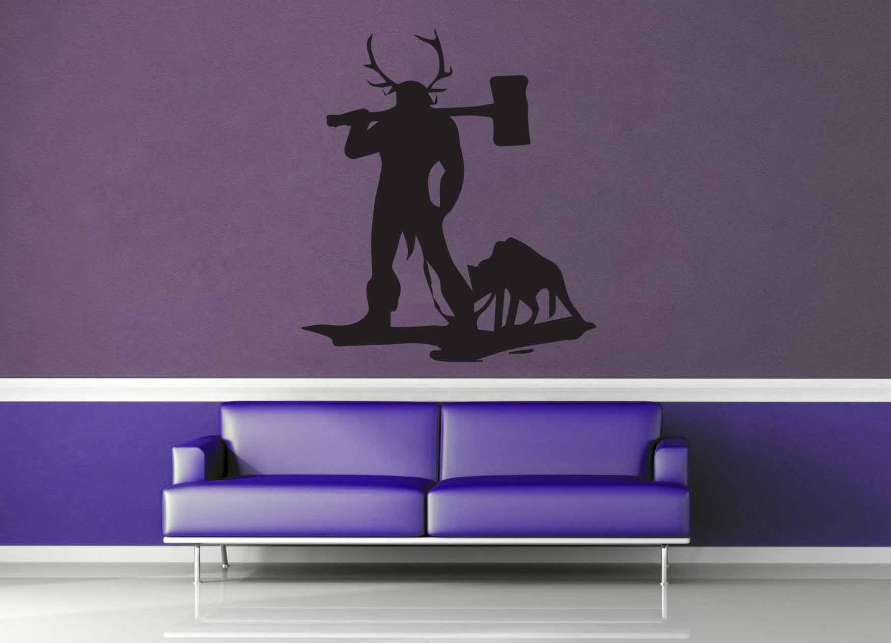 Barbarian Silhouette - Wall Decal