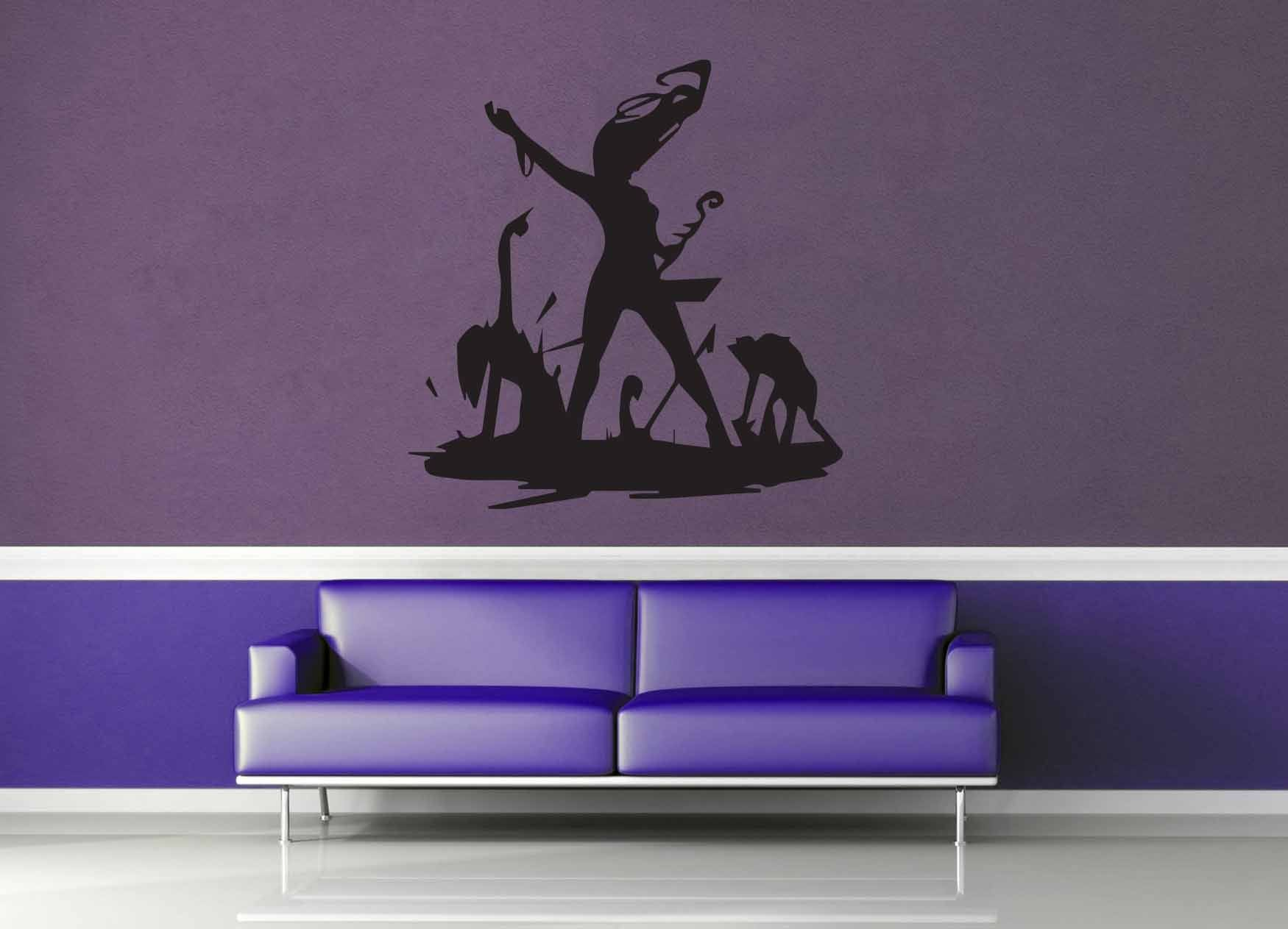 Necromancer Silhouette - Wall Decal