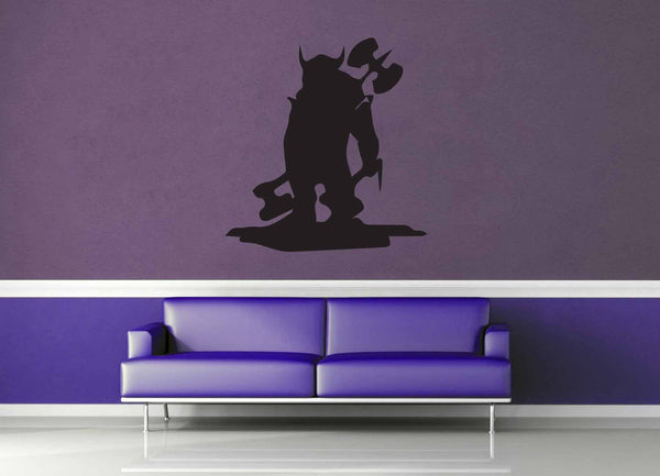Barbarian Ogre Silhouette - Wall Decal - geekerymade
