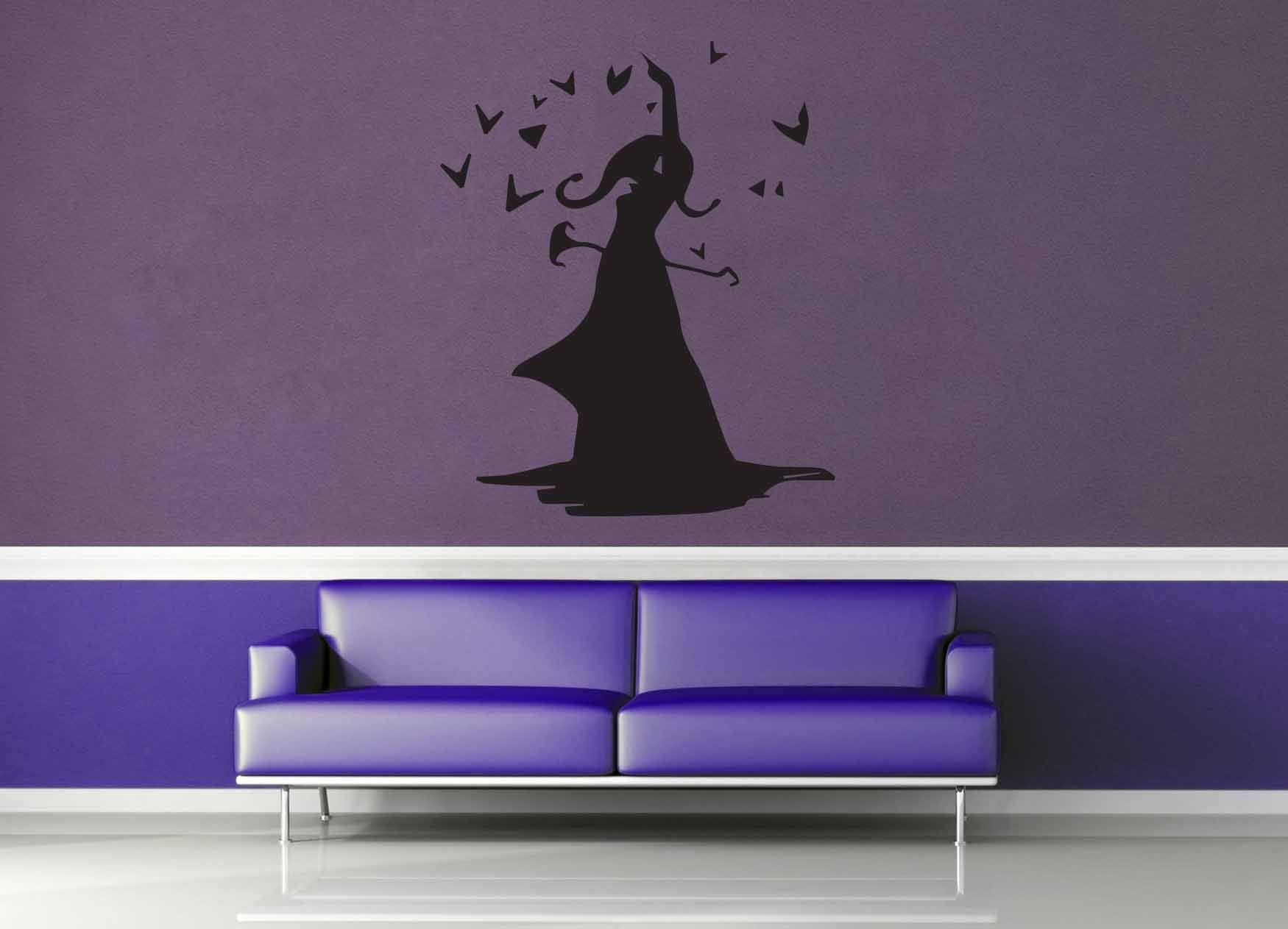 Sorceress Silhouette - Wall Decal