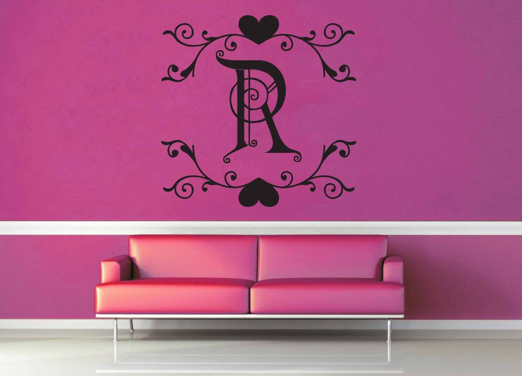 Fantasy Monogram - R - Wall Decal