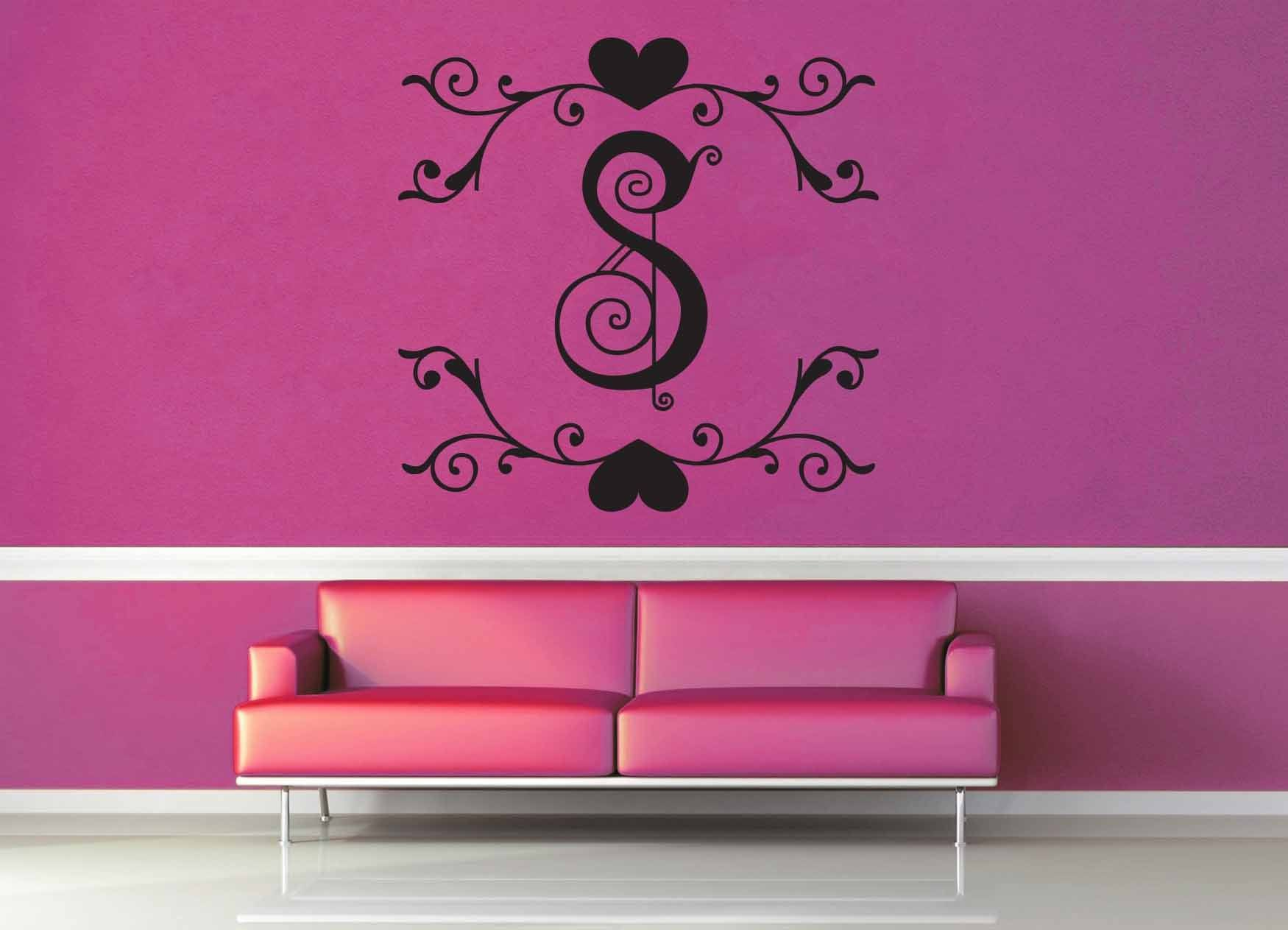 Fantasy Monogram - S - Wall Decal