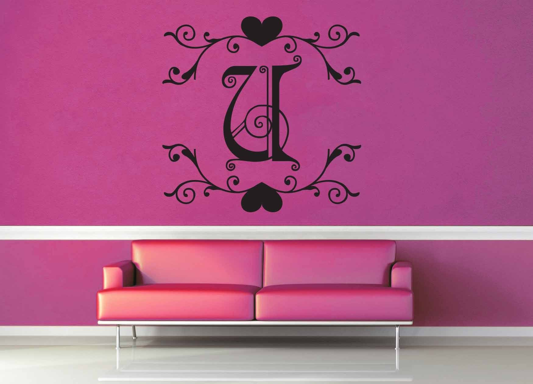 Fantasy Monogram - U - Wall Decal