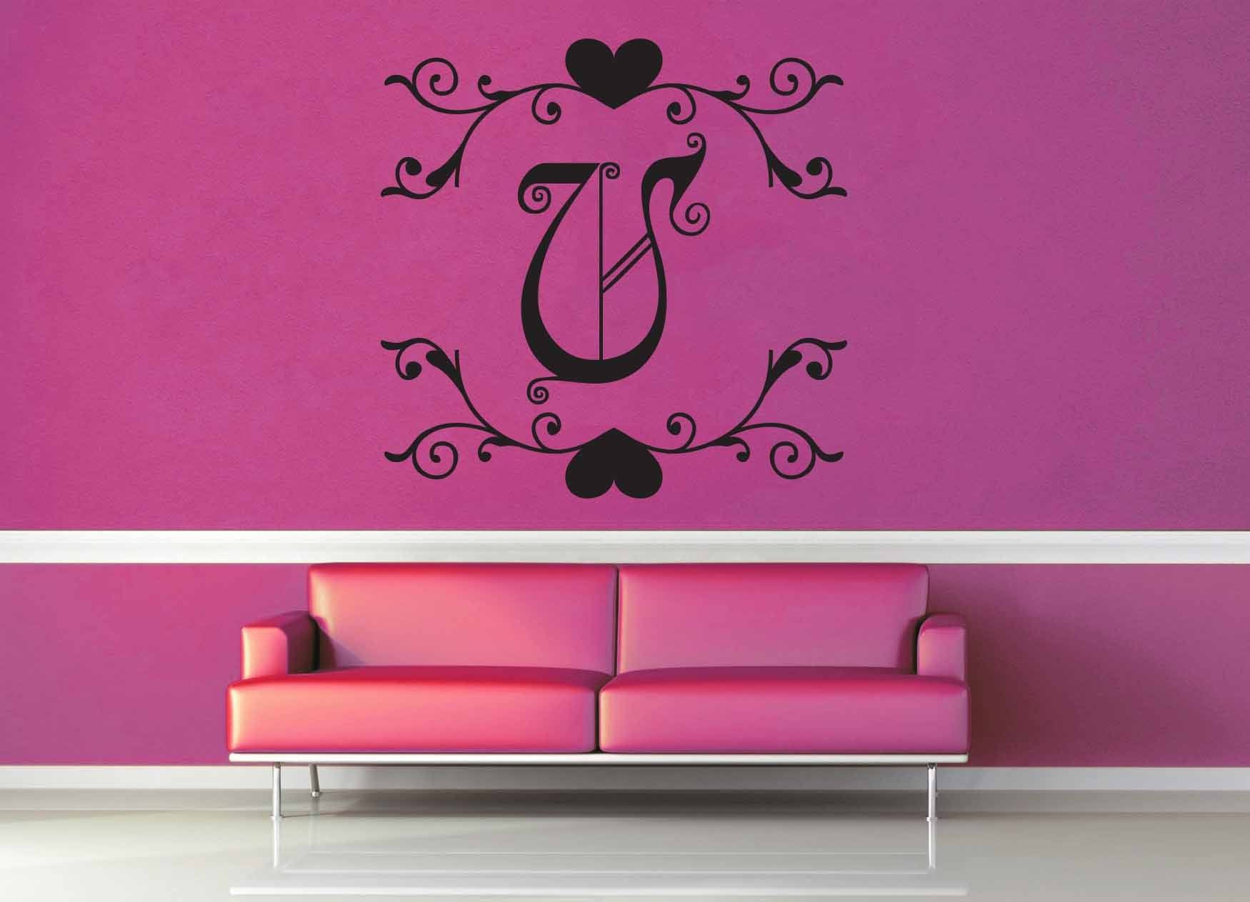 Fantasy Monogram - V - Wall Decal