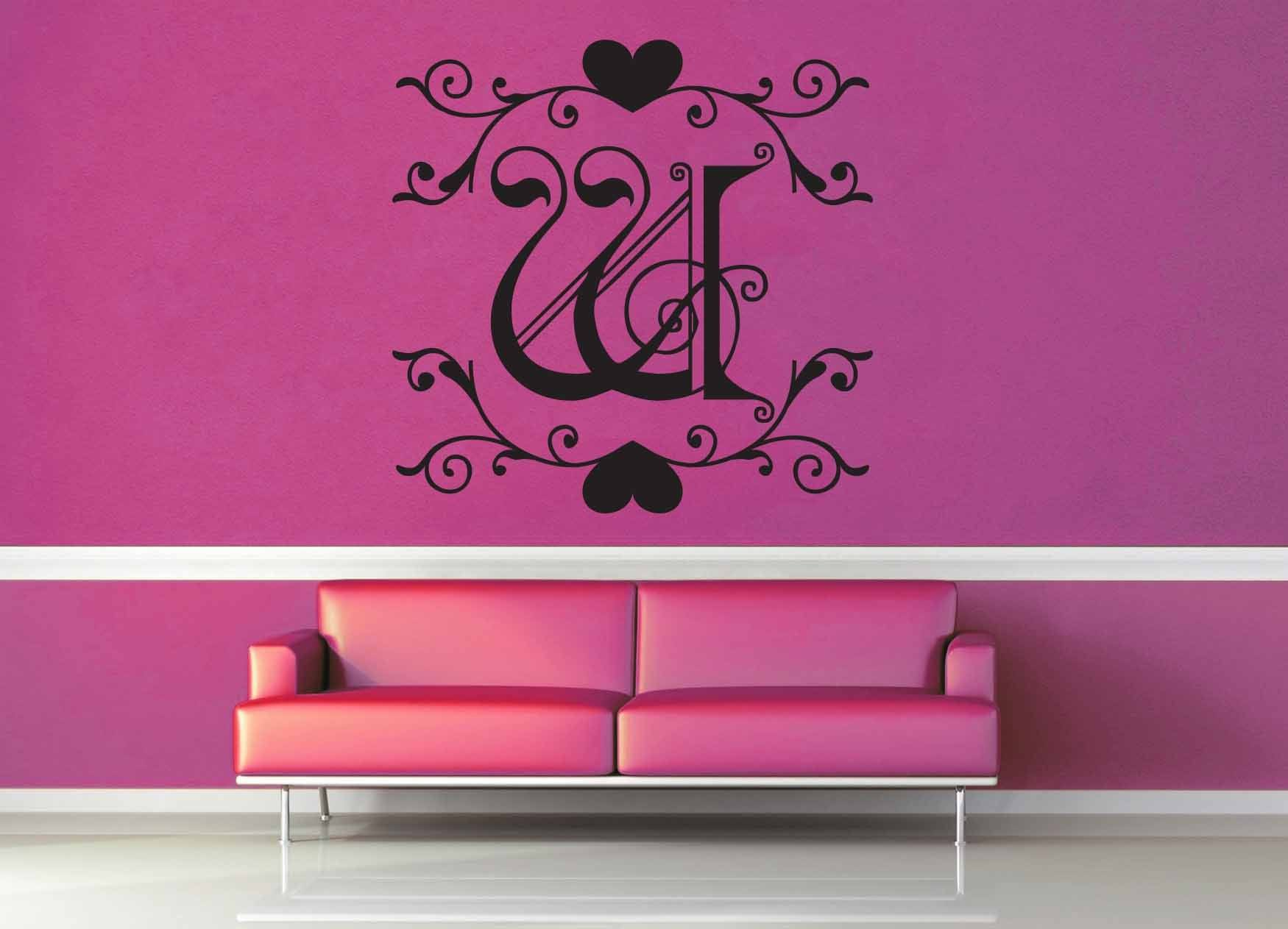 Fantasy Monogram - W - Wall Decal