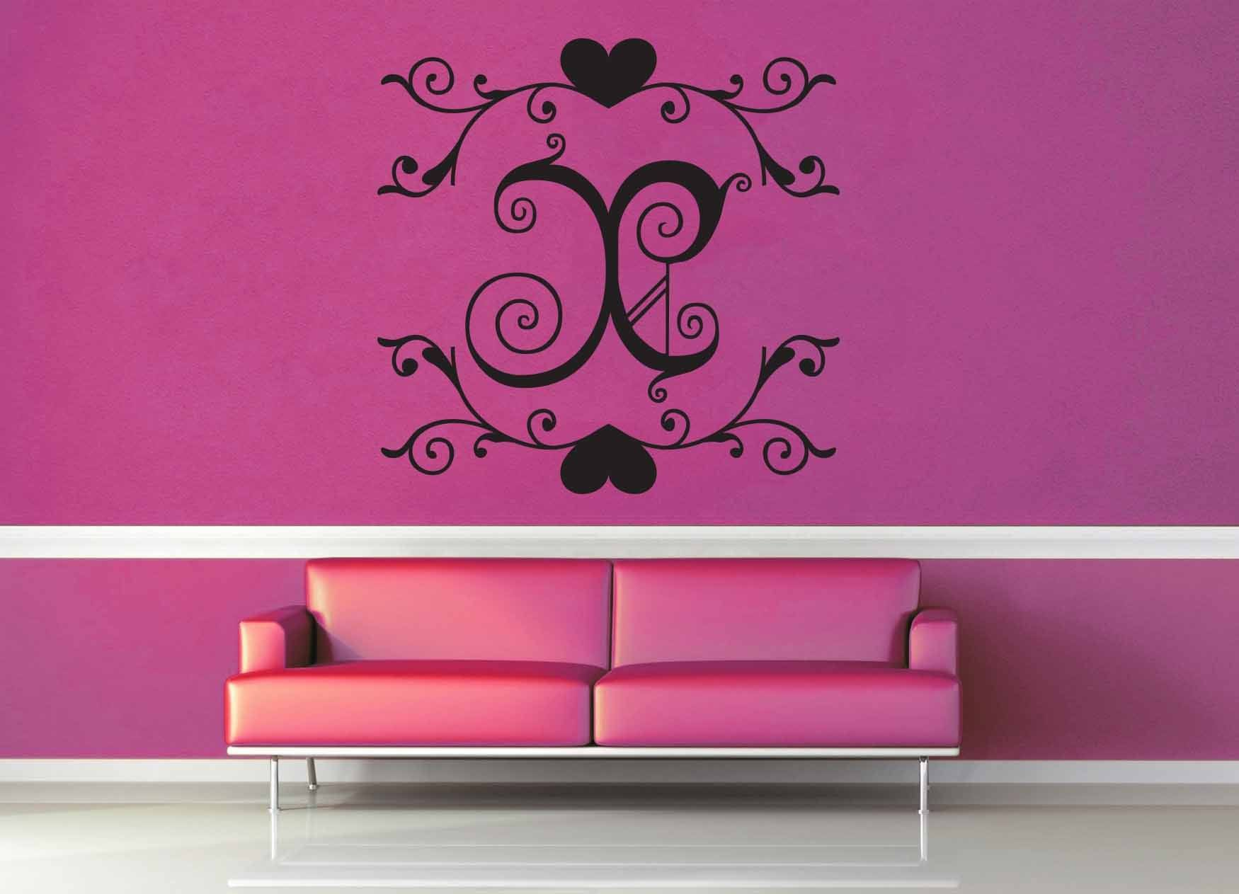 Fantasy Monogram - X - Wall Decal