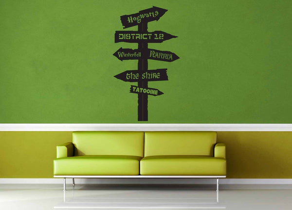 Fantasy Road Sign - Wall Decal - No 10 - geekerymade