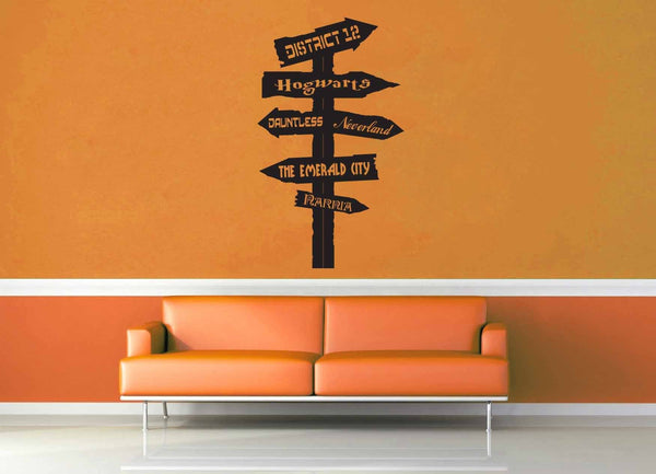 Fantasy Road Sign - Wall Decal - No 12 - geekerymade