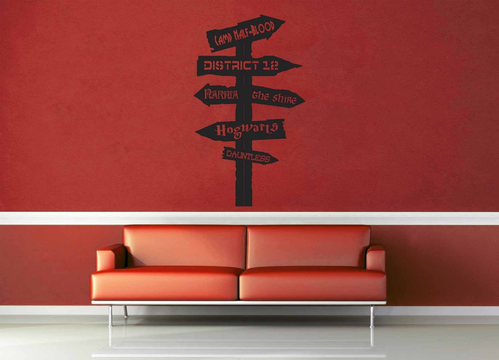 Fantasy Road Sign - Wall Decal - No 13