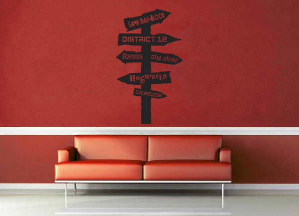 Fantasy Road Sign - Wall Decal - No 13 - geekerymade
