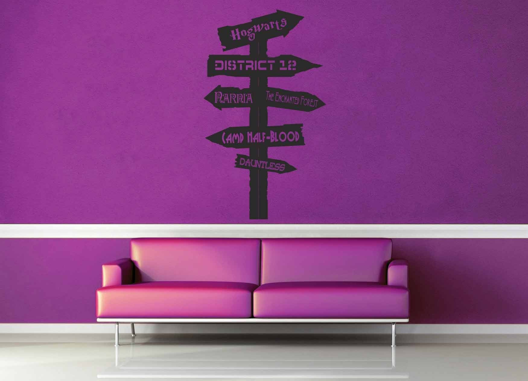 Fantasy Road Sign - Wall Decal - No 14
