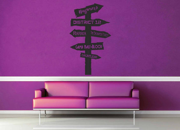 Fantasy Road Sign - Wall Decal - No 14 - geekerymade