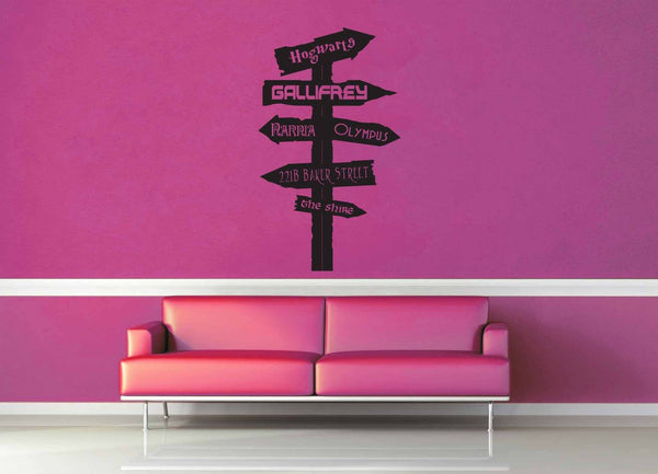 Fantasy Road Sign - Wall Decal - No 15 - geekerymade