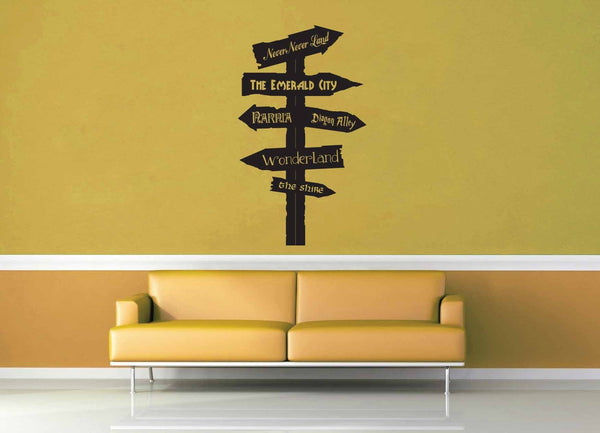 Fantasy Road Sign - Wall Decal - No 1 - geekerymade