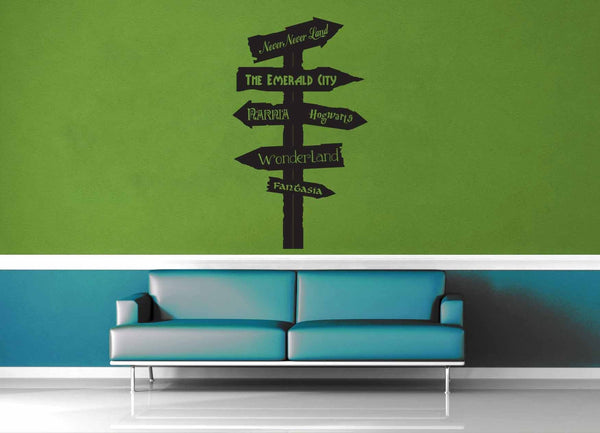 Fantasy Road Sign - Wall Decal - No 2 - geekerymade