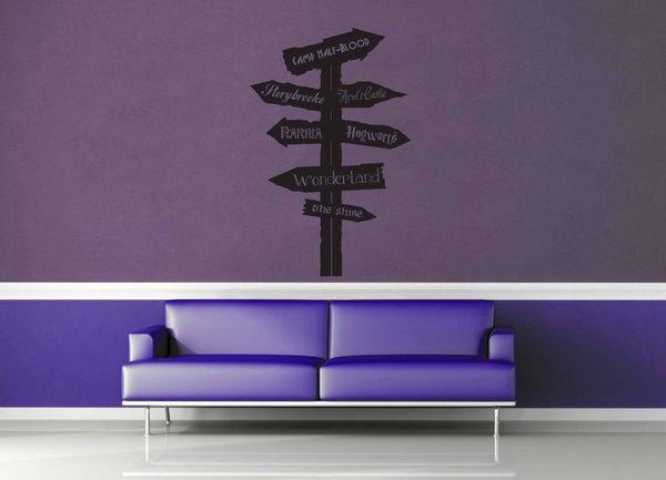 Fantasy Road Sign - Wall Decal - No 4 - geekerymade