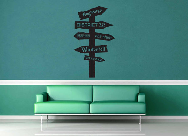 Fantasy Road Sign - Wall Decal - No 7 - geekerymade