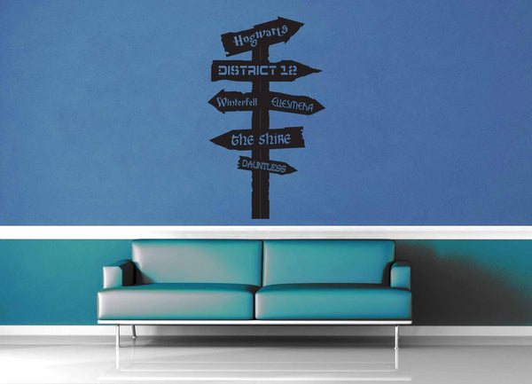 Fantasy Road Sign - Wall Decal - No 8