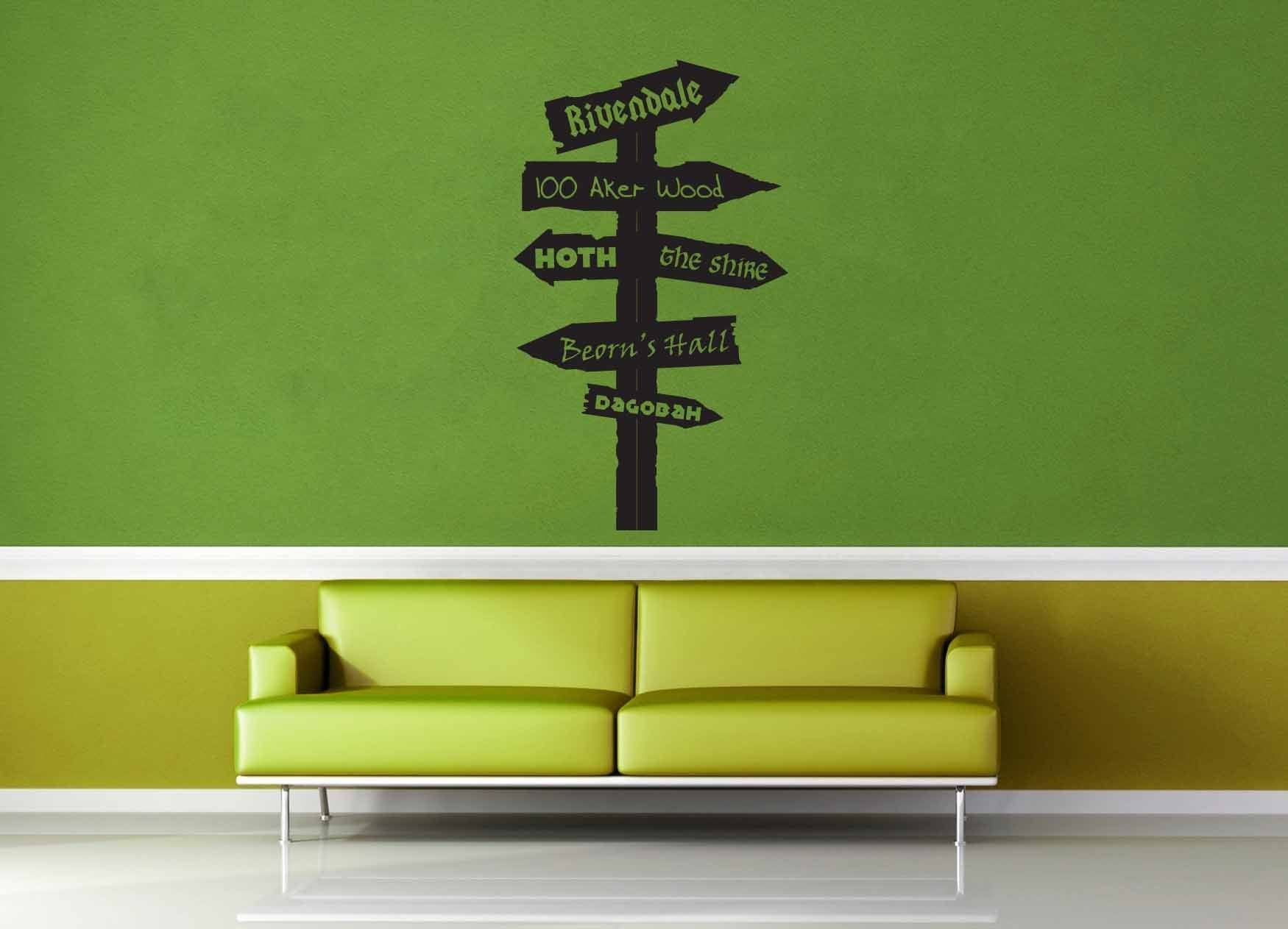 Fantasy Road Sign - Wall Decal - No 9