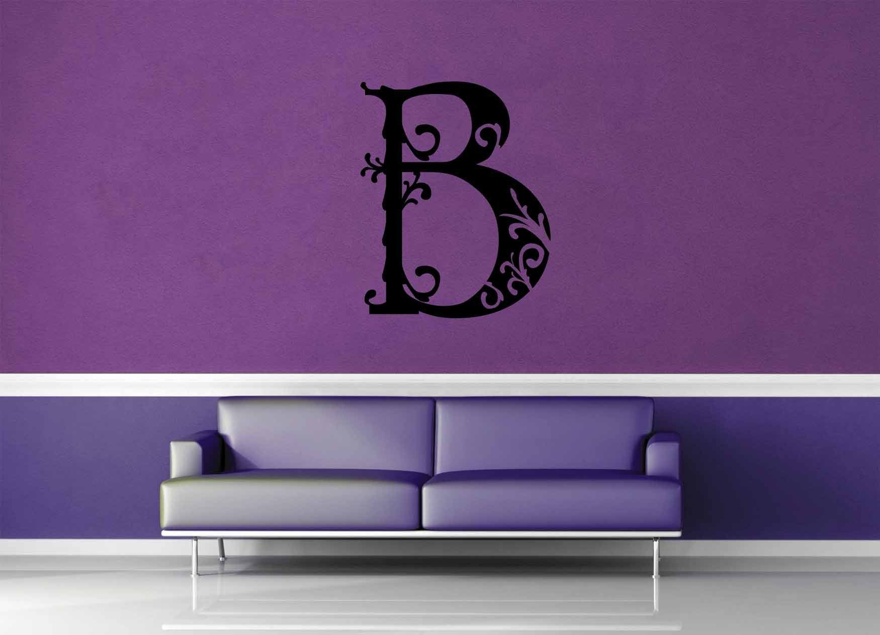 Floral Monogram - B - Wall Decal