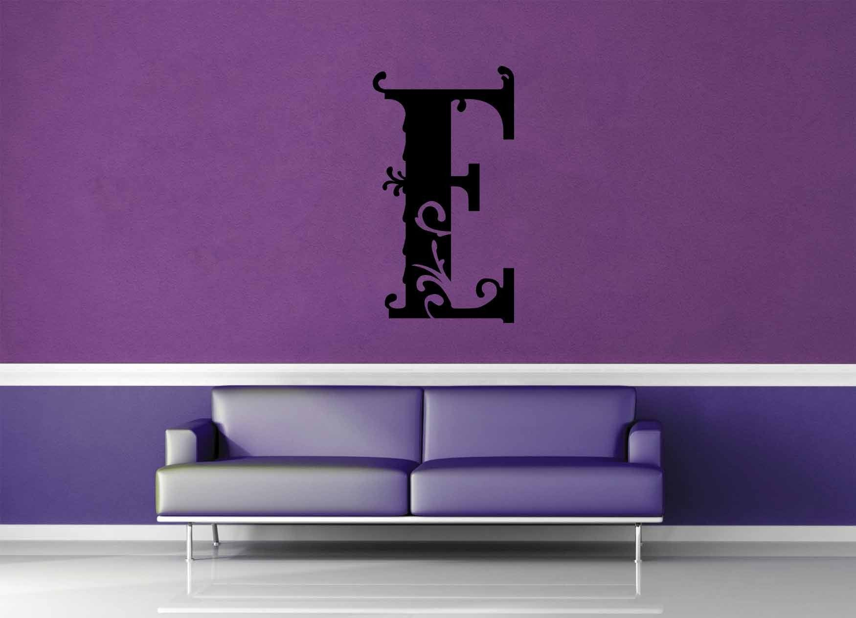 Floral Monogram - E - Wall Decal