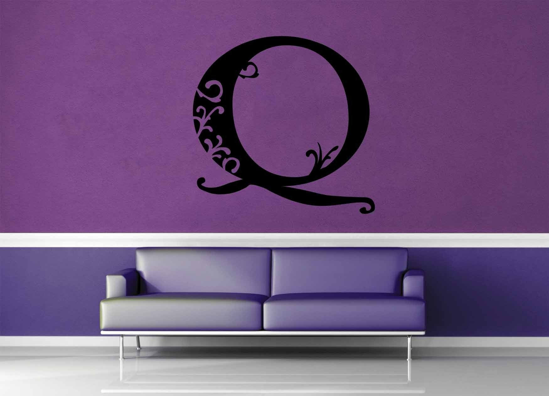 Floral Monogram - Q - Wall Decal