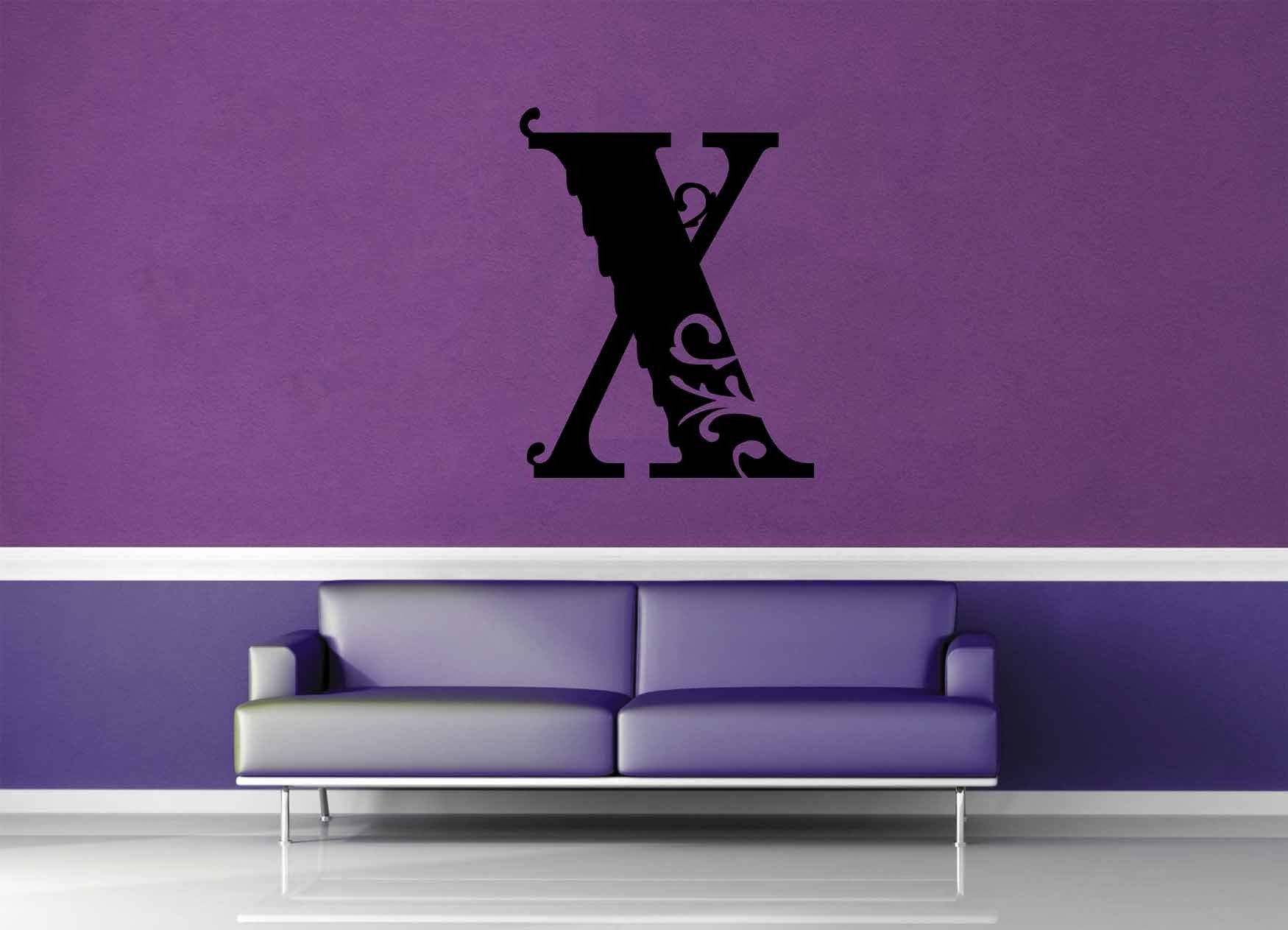 Floral Monogram - X - Wall Decal