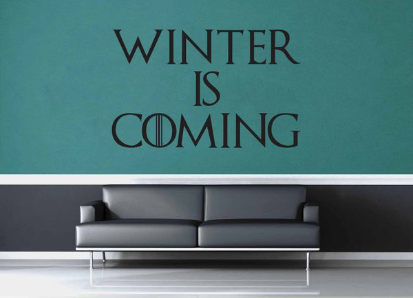 Winter is Coming - Game of Thrones Quote - Wall Decal - geekerymade