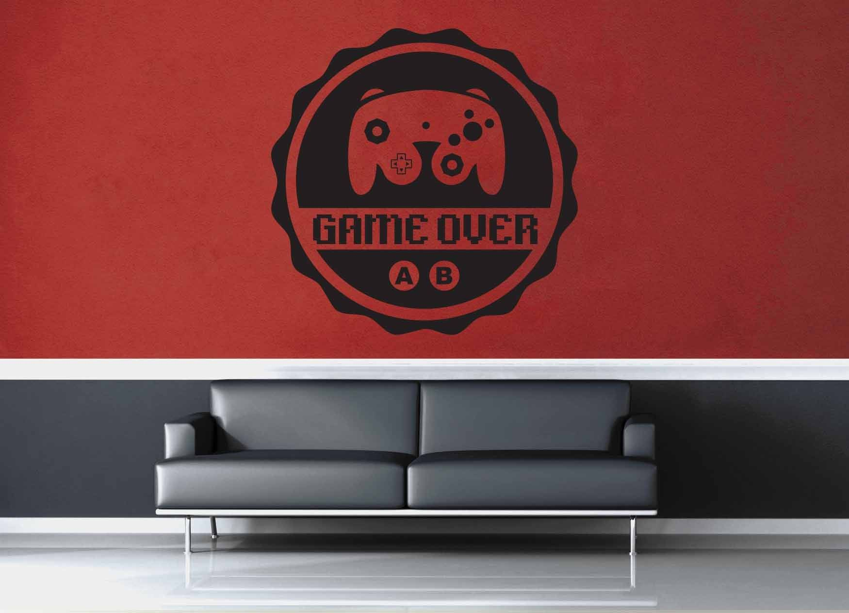Game Over - Gamer Décor - Wall Decal