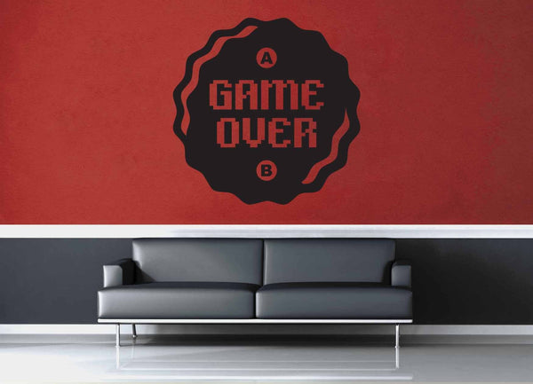 Game Over Button - Gamer Décor - Wall Decal