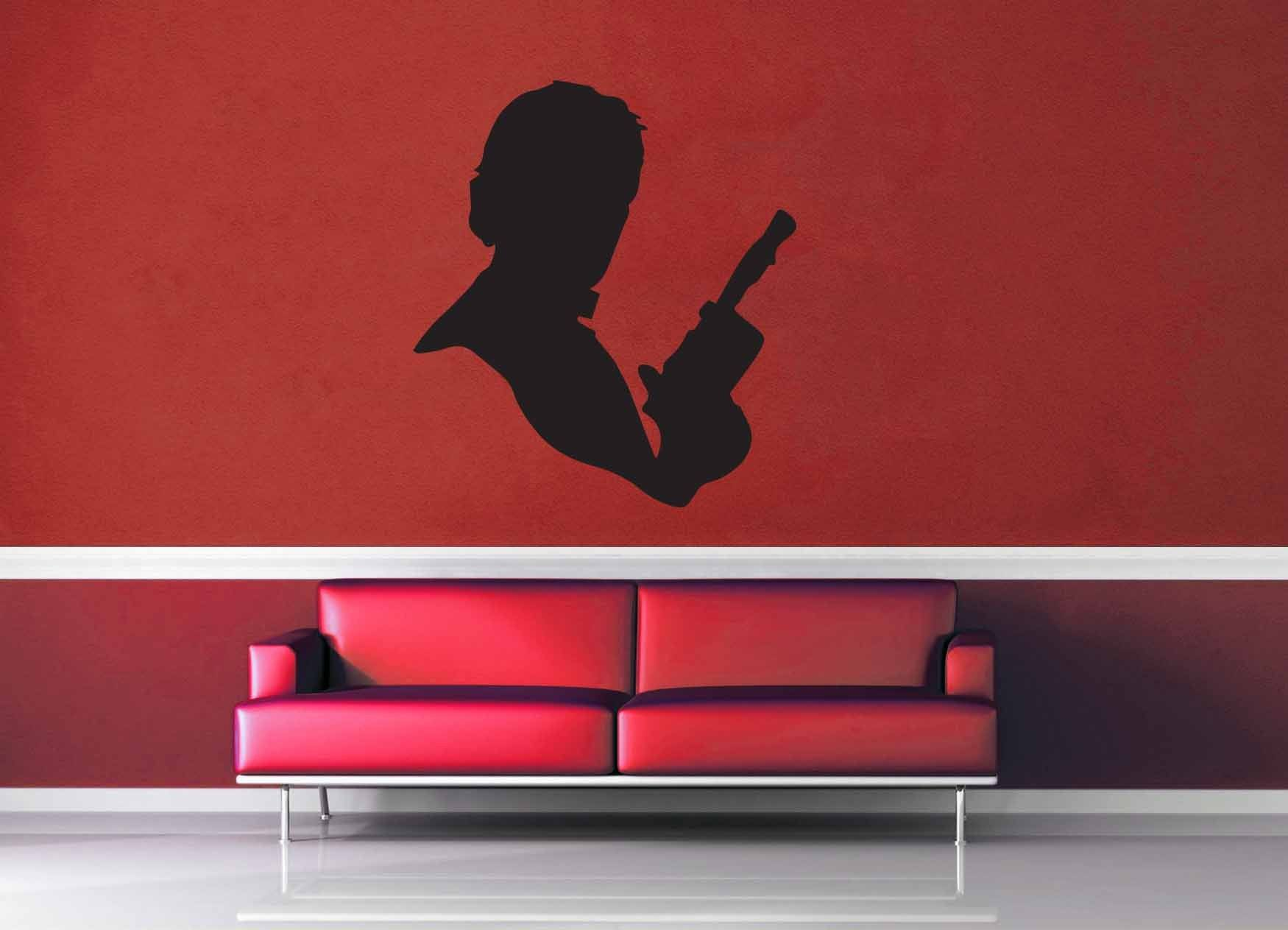 Han Solo Silhouette - Star Wars - Wall Decal - No 2 & Han Solo Silhouette - Star Wars - Wall Decal - No 2 u2013 geekerymade