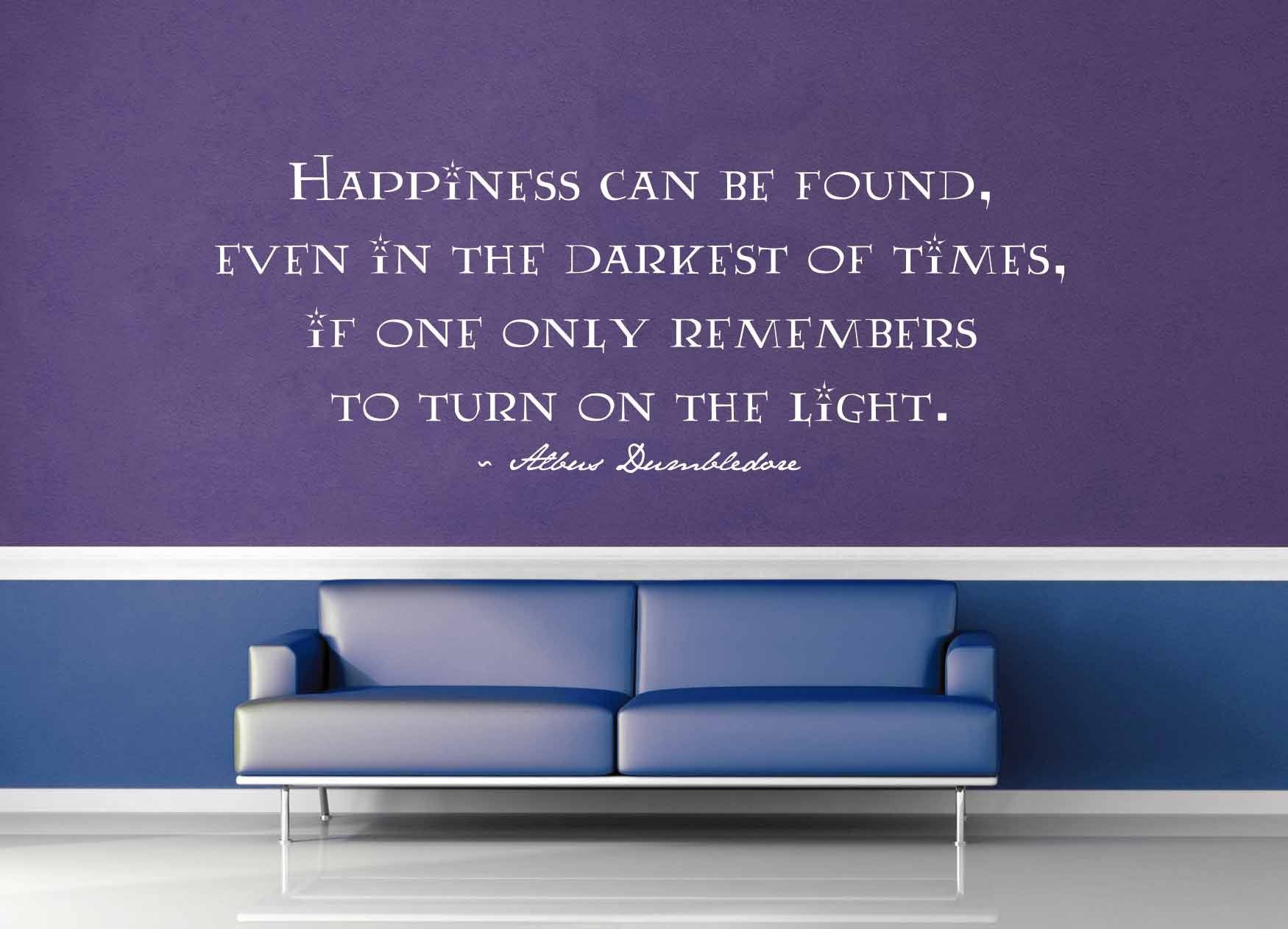 Happiness Can Be Found - Harry Potter Quote - Wall Decal - No 2