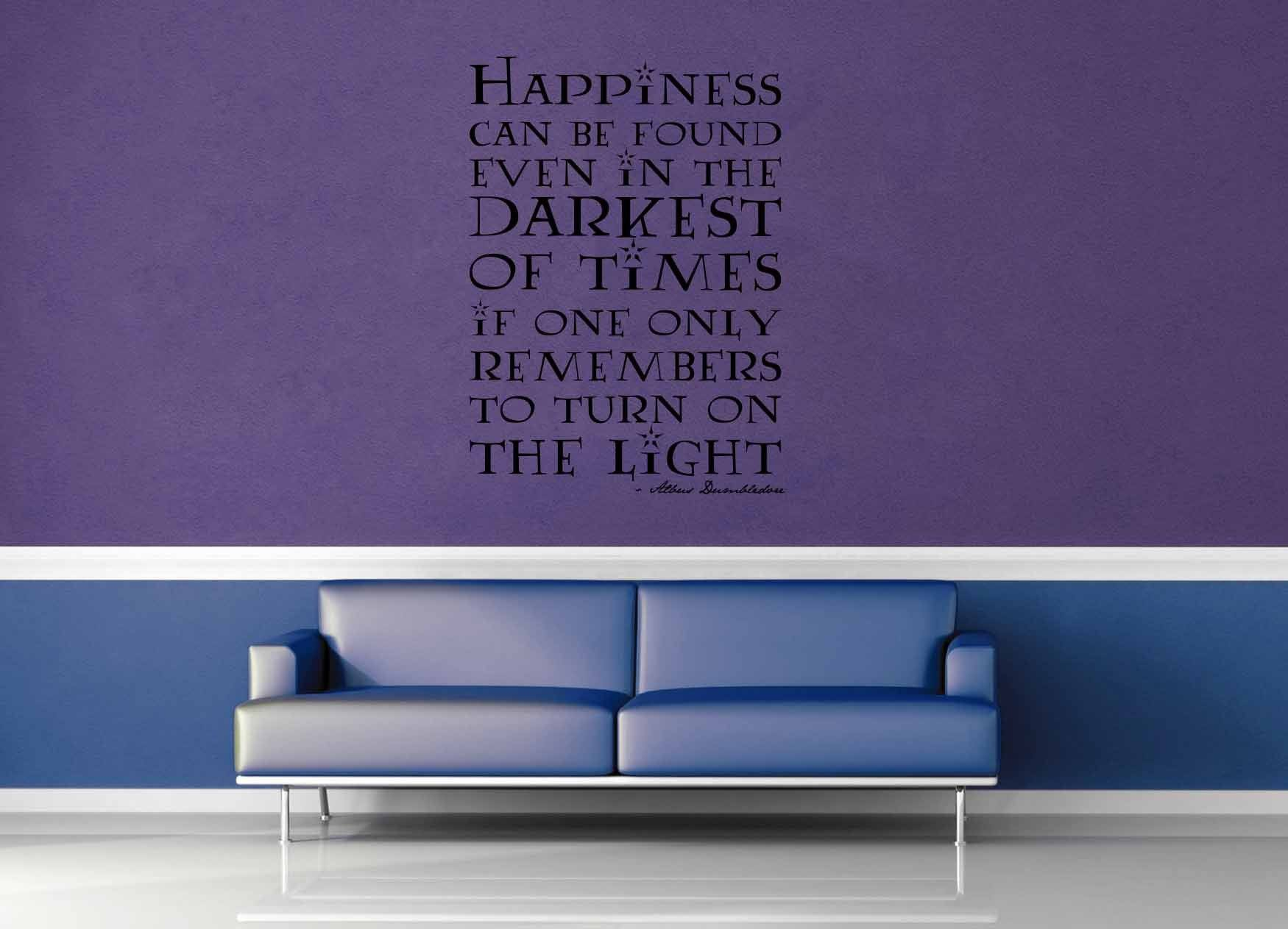 Happiness Can Be Found - Harry Potter Quote - Wall Decal - No 3 & Happiness Can Be Found - Harry Potter Quote - Wall Decal - No 3 ...