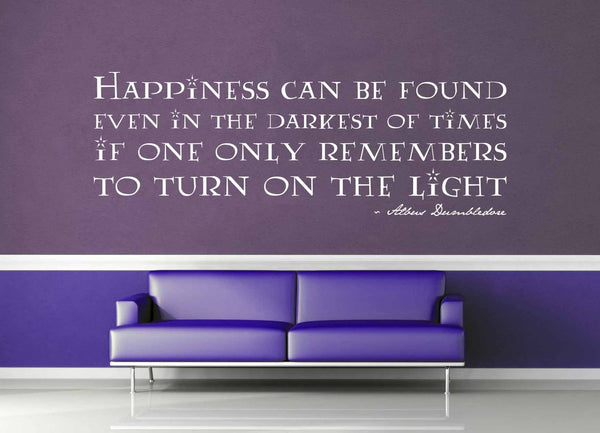 Happiness Can Be Found - Harry Potter Quote - Wall Decal - No 1 - geekerymade