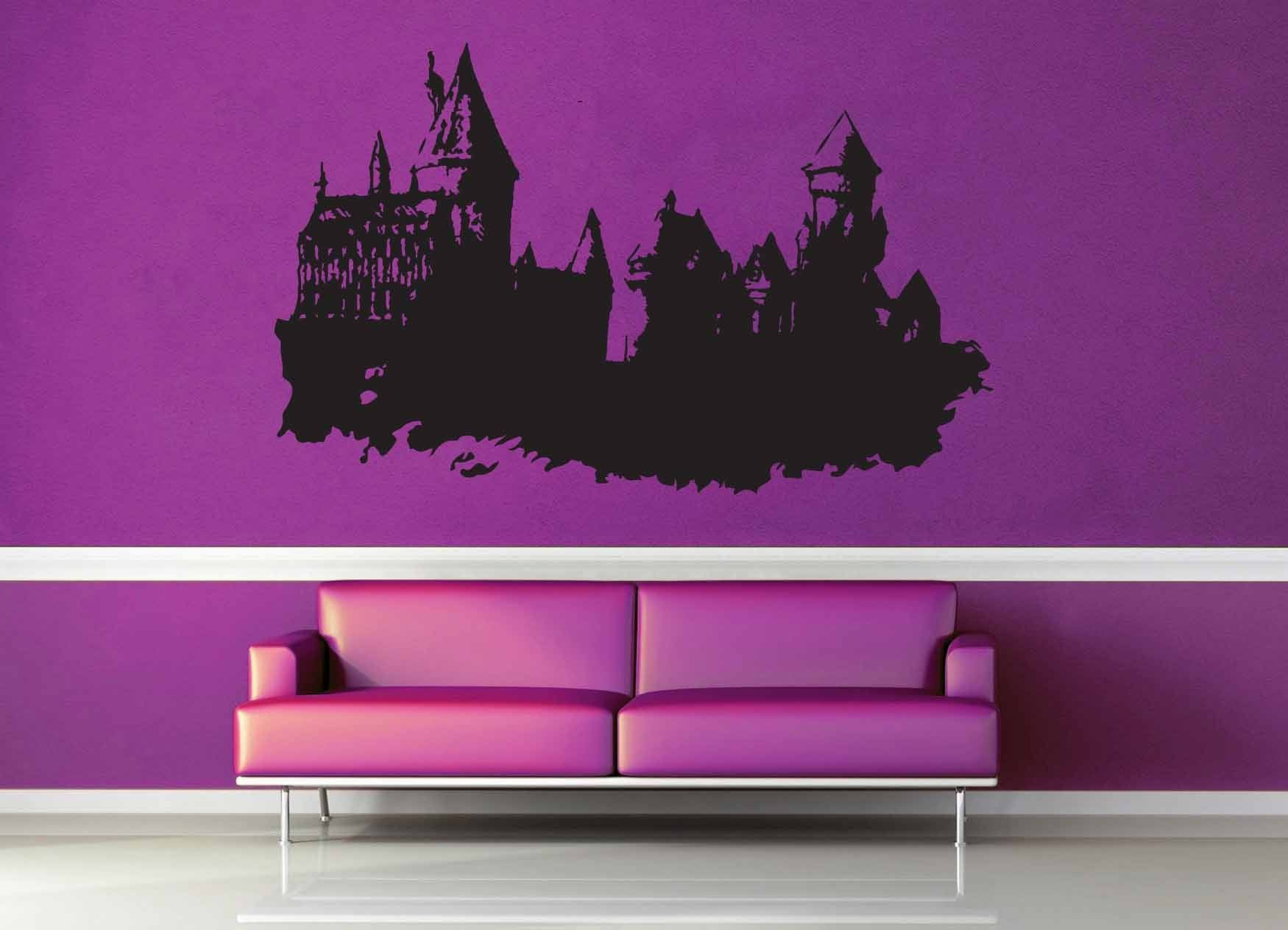Harry potter hogwarts castle wall decal harry potter for Castle wall mural sticker