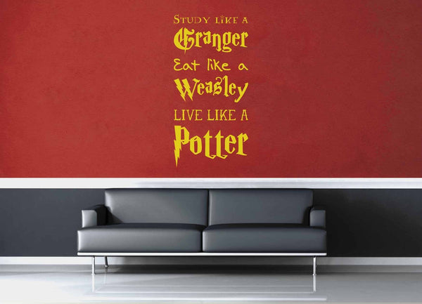 Live Like a Potter - Harry Potter Quote - Wall Decal - geekerymade