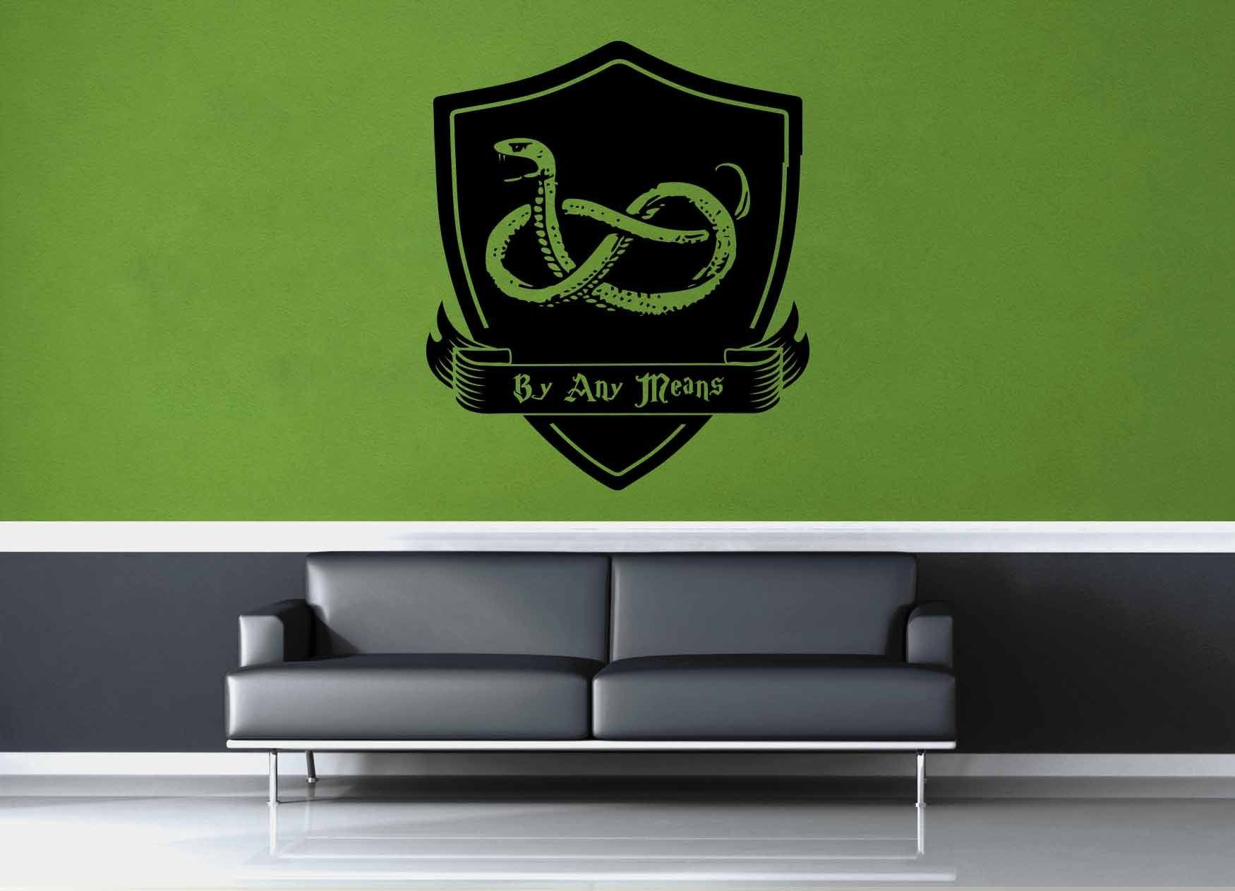 Charming Slytherin Crest   Harry Potter   Wall Decal