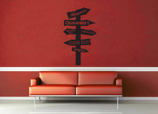 Harry Potter Road Sign - Wall Decal - geekerymade
