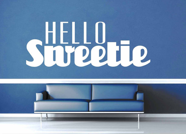 Hello Sweetie - Doctor Who Quote - Wall Decal - geekerymade