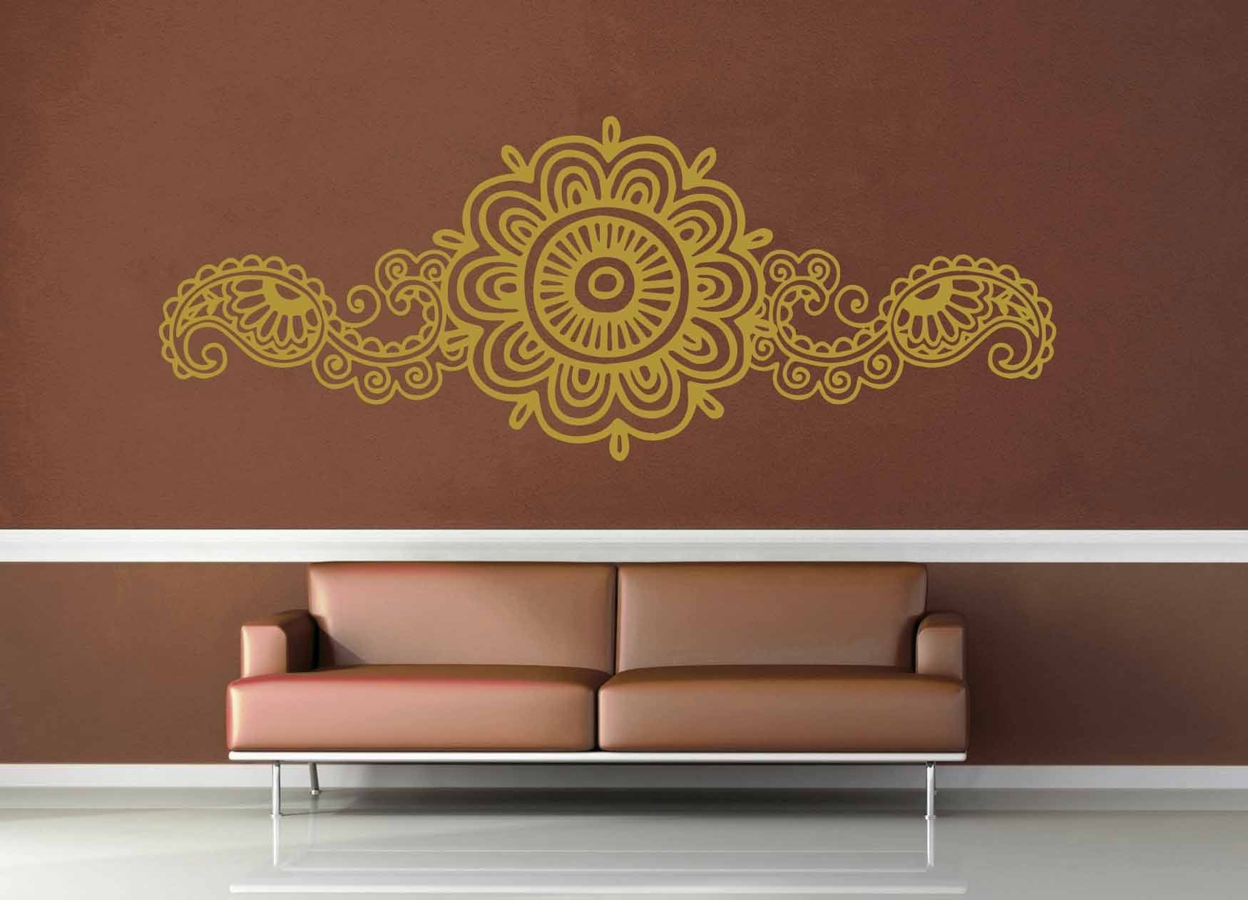 Henna Flowers - Wall Decal - No 2