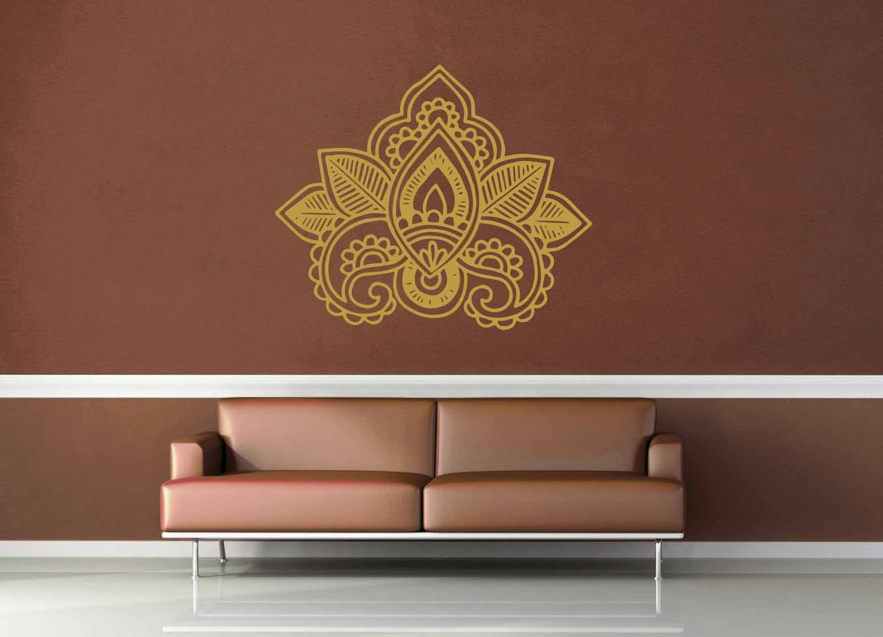 Henna Flowers - Wall Decal - No 3
