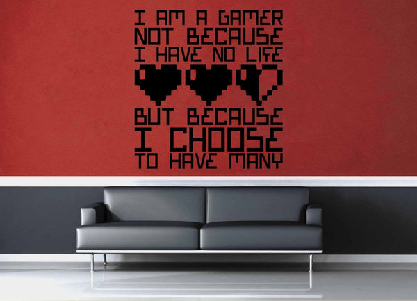 I Am a Gamer - Gamer Décor - Wall Decal