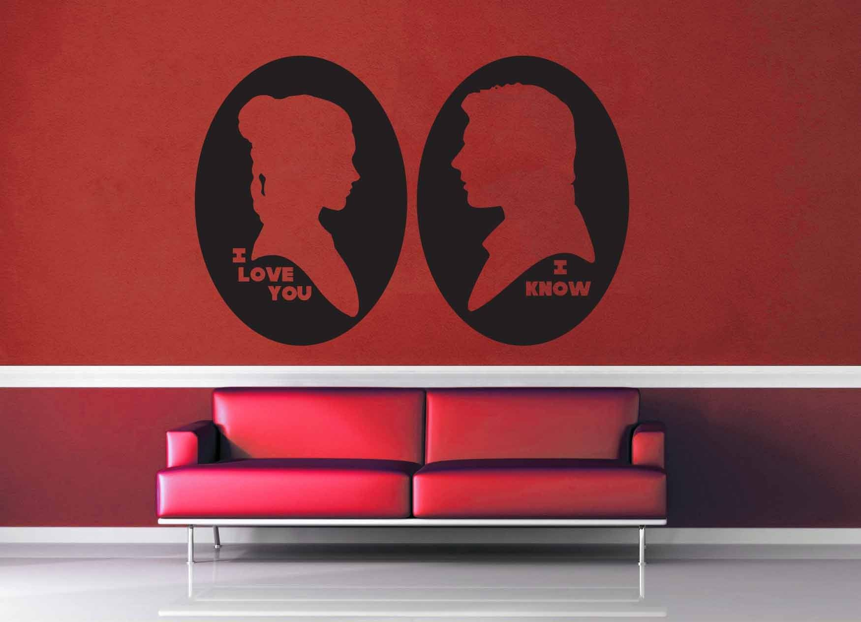 I Love You I Know Cameo Set - Star Wars - Wall Decal