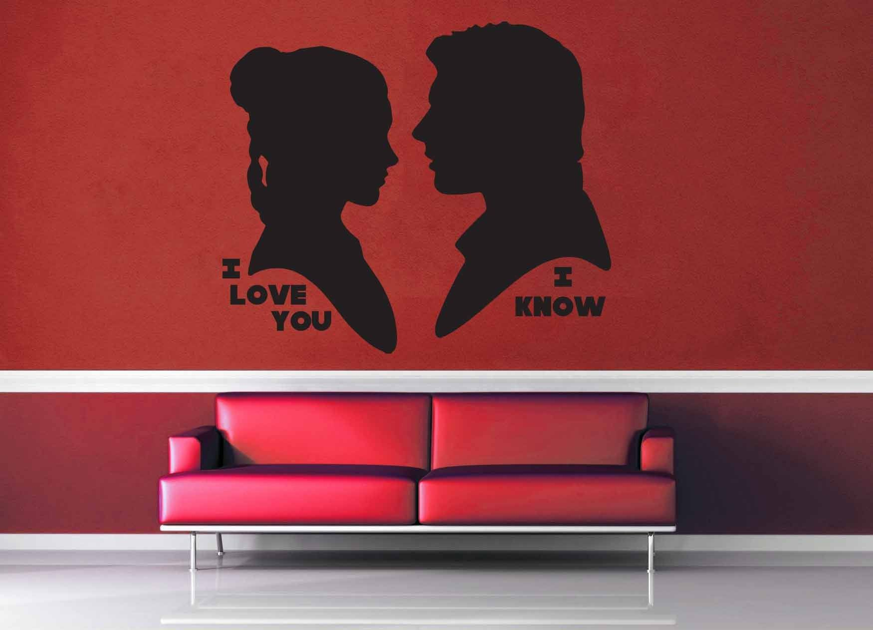 I Love You I Know Silhouette Set Star Wars Wall Decal Geekerymade