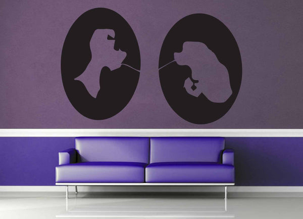 Lady and the Tramp Cameo Set - Wall Decal