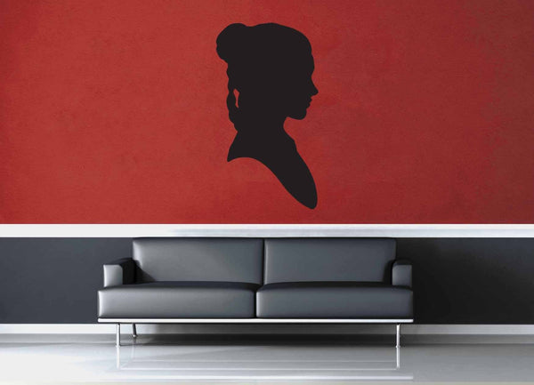 Leia Silhouette - Star Wars - Wall Decal - geekerymade