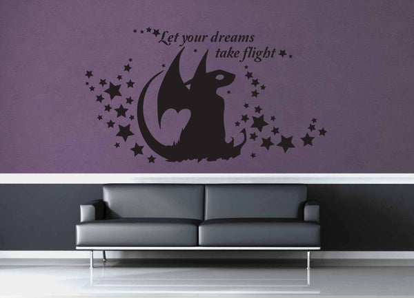 Let Your Dreams Take Flight - Wall Decal - geekerymade