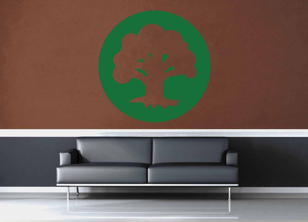 Forest - Green  - MTG Mana Circle - Gamer Décor - Wall Decal