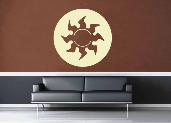 Plains - White - MTG Mana Circle - Gamer Décor - Wall Decal - geekerymade
